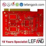 De rode Soldeersel Afgedrukte Fabrikant van PCB van de Raad van de Kring met ISO 9001