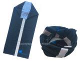 Foulard noir fait sur commande de Tubies de collet de polyester de produit d'usine de la Chine avec la piste r3fléchissante de 3m