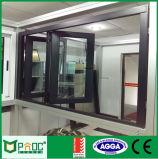 Fenêtre de pliage en aluminium avec des prix d'usine