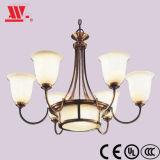 Iluminación de candelabros con matices de mármol
