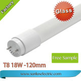 Factory Hot Sale 1200mm 18W T8 6500K Tube LED lumière fluorescente