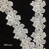 큰 작은 구멍 꽃 Hmw6232를 가진 머리띠를 위한 6cm Cellino 꽃 레이스 폴리에스테 뻗기 레이스 고무줄