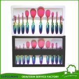 Cepillo multiusos oval del maquillaje de cepillo del conjunto del estilo cosmético profesional del cepillo de dientes