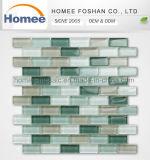 Banda de alta calidad de la pared de la cocina brillante Backsplash mosaico de vidrio verde