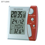 Horloge radiocommandée avec calendrier LCD & Thermomètre (EFT-U04X)