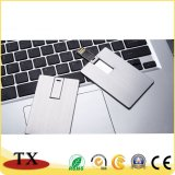 USB creativo del asunto de la tarjeta de aluminio del metal
