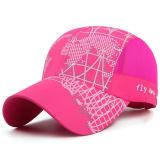 Летом женщин Visor Red Hat высокое качество печати деловых обедов бейсбольного колпачок с логотипом