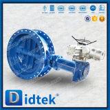 Válvula de borboleta elétrica da flange Offset triplicar-se de Didtek
