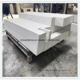 A China Popular Laje de quartzo branca de pedra artificial para a bancada e vaidade topo