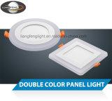 隠されるか、または表面の円形か正方形アルミニウムおよびアクリルハウジング3W + 3W二重カラーLED照明灯