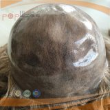Parrucca piena del merletto del silicone dei capelli brasiliani (PPG-l-0907)