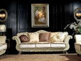 Sb33 de madera maciza estilo real clásico Sofá de cuero