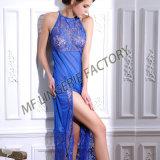 Moderne reizvolle Spitze-Kleid-Wäsche-Höhe geschnittene lange modale Unterwäsche