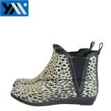 Leopard печать водонепроницаемый лодыжки характера резиновые дождя ботинки для женщин