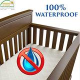 Bambú transpirable resistente al agua la almohadilla de colchón Cuna Protector de la cubierta/