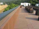 Plancher composé en plastique en bois extérieur de Decking de jardin/stationnement/yard de WPC