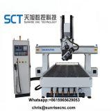 Sct 4 CNC van de As 3D Houten Machine van de Router voor het Maken van het Aluminium van het Meubilair van het Kabinet van de Deur