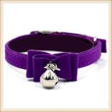 6 couleurs PU petit chat chien Colliers avec des cloches (KC0136)