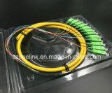 Kern-Bündel-Zopf Sc/APC G652D des Faser OptikPatchcord Faser-Verbinder-12