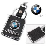 Logotipo Keychain do carro do Keyring do couro da forma do logotipo do carro da forma