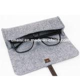 Os Eyeglasses do suporte do portador da caixa do filtro dos óculos de sol de feltro de lãs carreg o saco