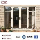 Polvo Windows de aluminio revestido y precio de cristal de la puerta de las puertas