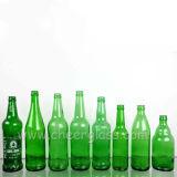 330ml/500ml/750ml 색깔 병마개를 가진 빈 실크 인쇄 유리제 맥주 병