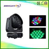 소형 19*15W LED 세척 급상승 이동하는 헤드 단계 빛