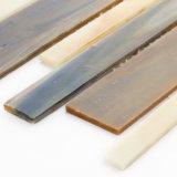 Mattonelle di mosaico di vetro macchiato del Brown di prezzi di fabbrica per il pavimento della stanza da bagno