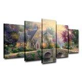 Peinture à l'huile classique estampée par HD d'horizontal d'illustrations modulaires de panneau de l'affiche 5 de passerelle de décor de maison de cadre d'art de mur sur la toile