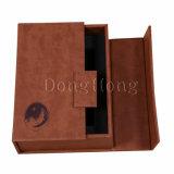 Boîte-cadeau en cuir élégante d'unité centrale Magetic de modèle attrayant