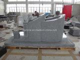 Monumento chiaro di stile cinese del granito G603 con la scultura dei leoni