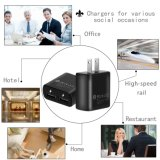 2 Lader van de Telefoon van de Reis USB van havens de Snelle Mobiele voor iPhone
