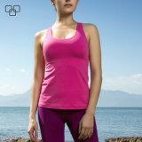 Las tapas del tanque del desgaste de la gimnasia de mujeres del chaleco del entrenamiento adelgazan las camisetas apropiadas