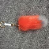 Charme acrylique de vente chaud de sac de trousseau de clés de Pompom de bille de fourrure de Faux