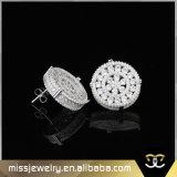 Pendientes cristalinos del espárrago del oro para las mujeres Mjce036
