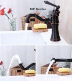 すべて銅のヨーロッパの単一の穴の浴室のカウンターの洗面器の洗面器のコック