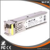 BiDi 호환성 SFP 1550nm-TX/1310nm-RX 20km 섬유 모듈