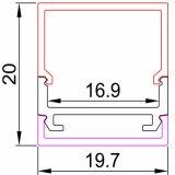 Luz de tira de aluminio ahuecada 12m m compatible del perfil LED del PWB 12.3m m