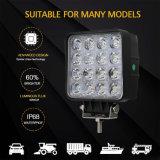 새로운 도착 트럭 자동차 부속용품 플러드 반점 광속 IP68 48W 4.8 인치 Offroad 모는 램프 정연한 자동 차 LED 일 빛