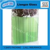 Vidrio laminado del color verde con las líneas