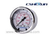 ステンレス鋼の圧力計