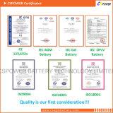 Bateria de armazenamento 12V da energia solar de Cspower VRLA 55ah para EV