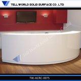 Kommerzielle künstliche Steinqualitäts-weißer Salon-Empfang-Schreibtisch