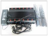 Brouilleur meilleur marché et populaire de signal de dresseur de signal d'écran protecteur de signal de téléphone mobile de l'appareil de bureau GPS, type monté sur véhicule brouilleur Cpjx12 de téléphone cellulaire