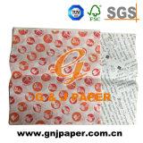 Uno lateral alisa y un papel impreso áspero lateral de Greasproof