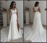 Чисто устраивающих официальных Gowns A-Line шифон кружево пляж сад свадебные платья H059