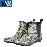 Luipaard die de Waterdichte Laarzen van de Regen van de Aard van de Enkel Rubber voor Vrouwen afdrukken