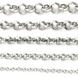 Redondo de acero inoxidable collar de cadena Rolo