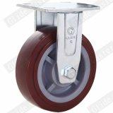 8 인치 빨간 폴리우레탄 바퀴 산업 피마자